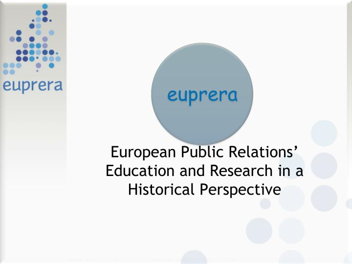 European public relations education and research in a historical perspective