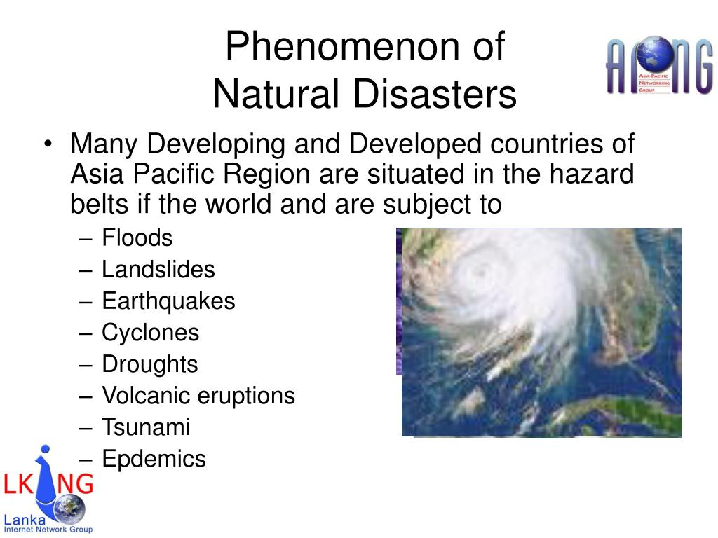 Phenomenon of Natural Disasters