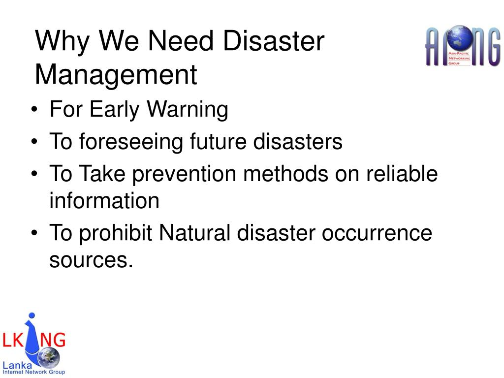Why We Need Disaster Management