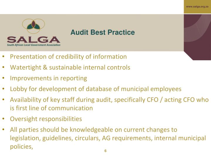Audit Best Practice