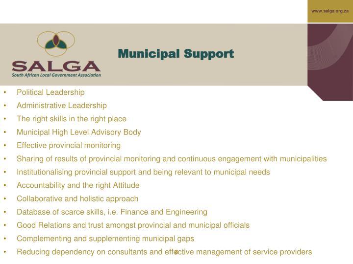 Municipal Support