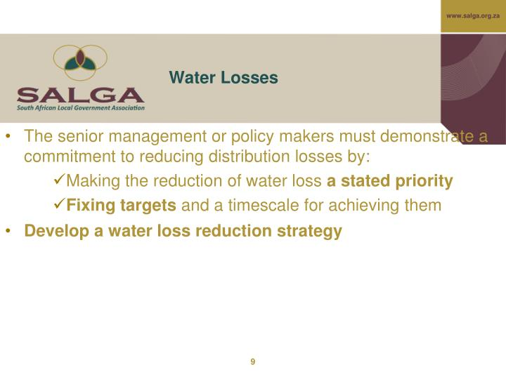 Water Losses