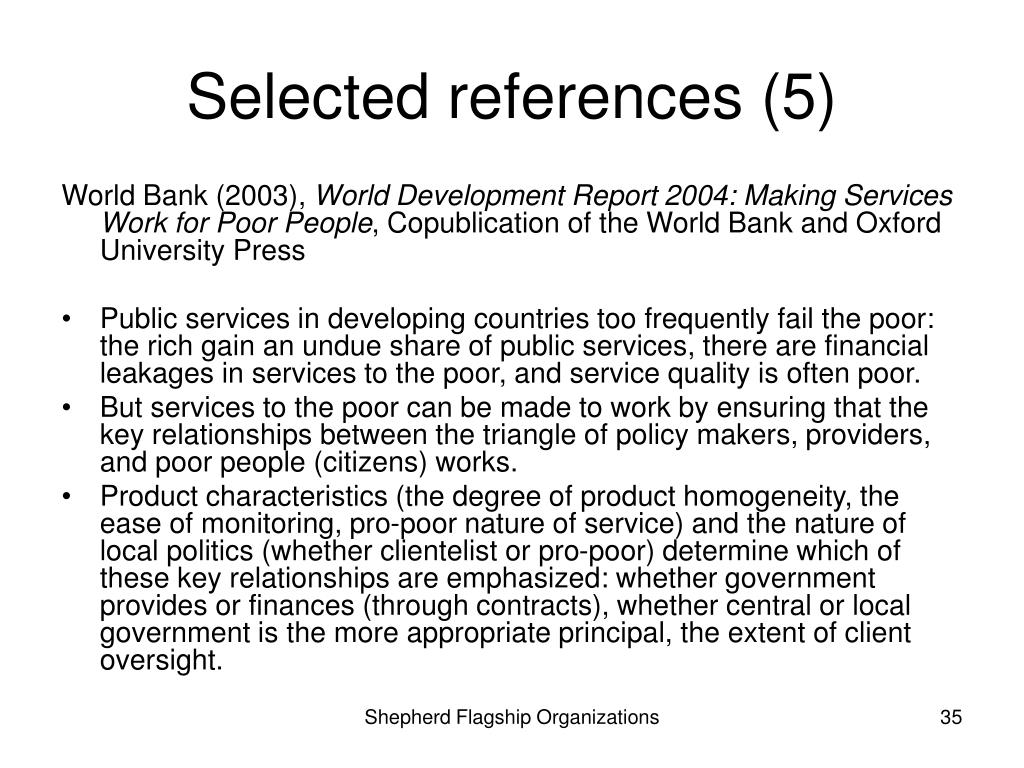 Selected references (5)