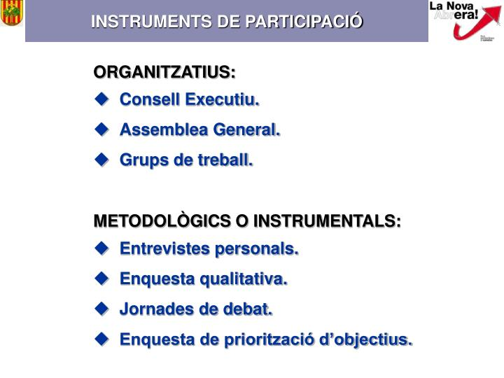 INSTRUMENTS DE PARTICIPACIÓ