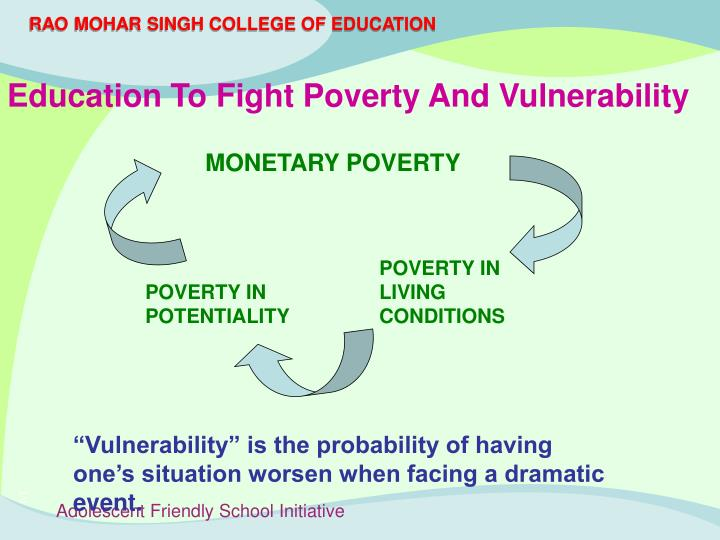 Education To Fight Poverty And Vulnerability