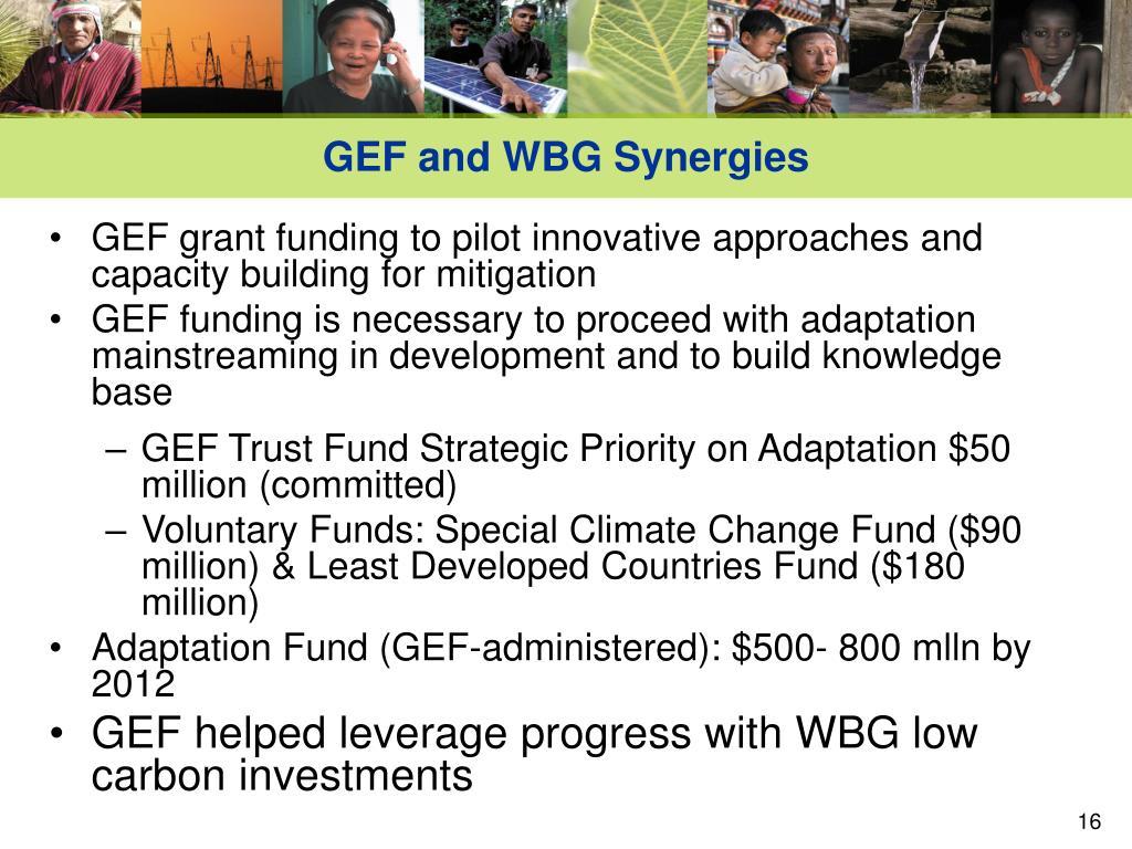GEF and WBG Synergies
