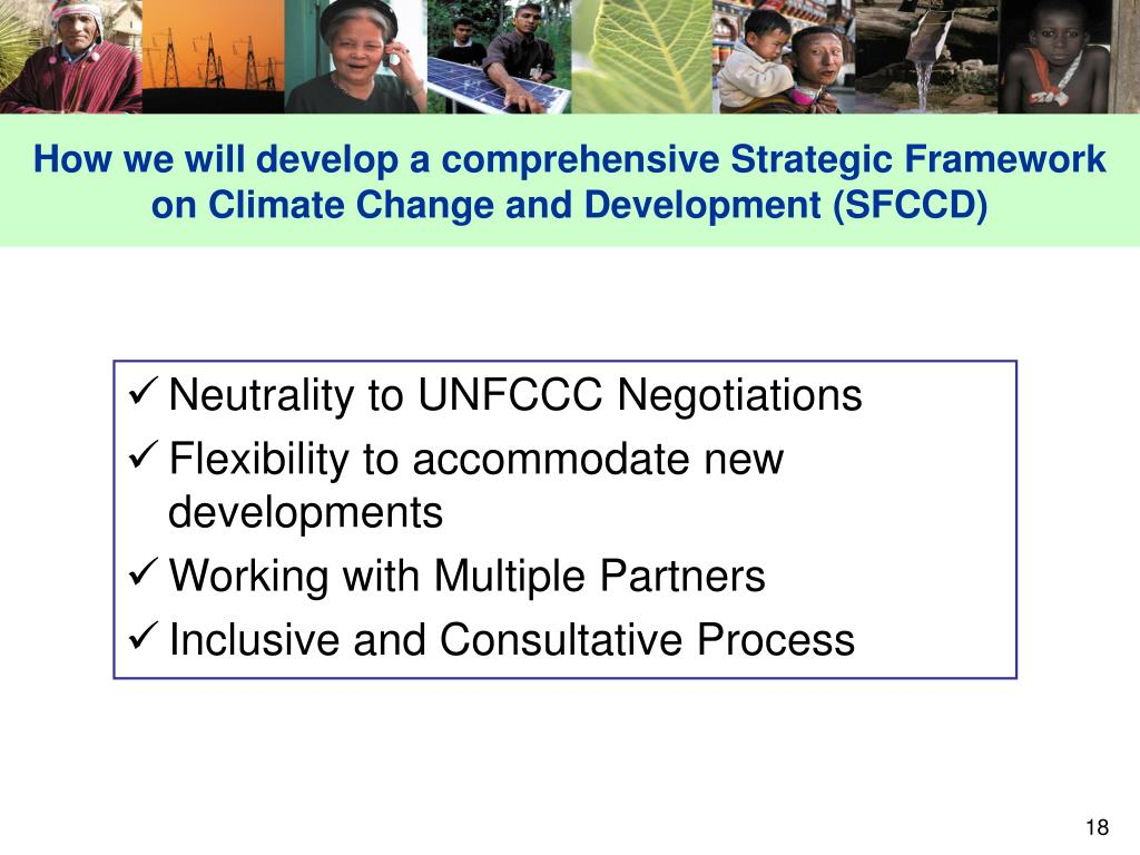 How we will develop a comprehensive Strategic Framework on Climate Change and Development (SFCCD)