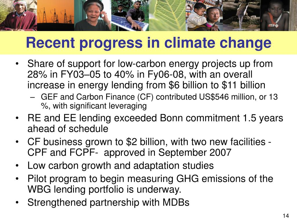 Recent progress in climate change