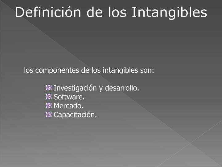 Definición de los Intangibles