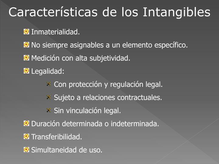 Características de los Intangibles
