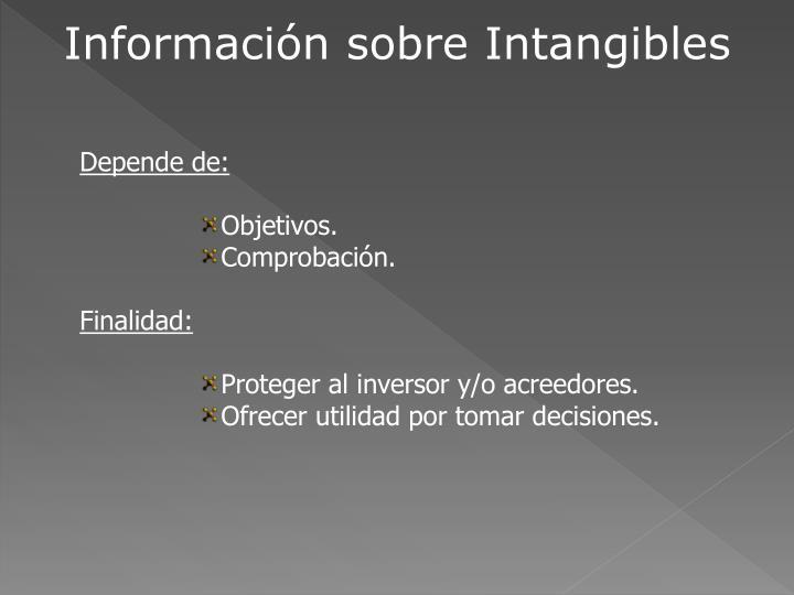 Información sobre Intangibles