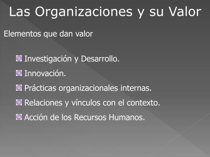 Las Organizaciones y su Valor