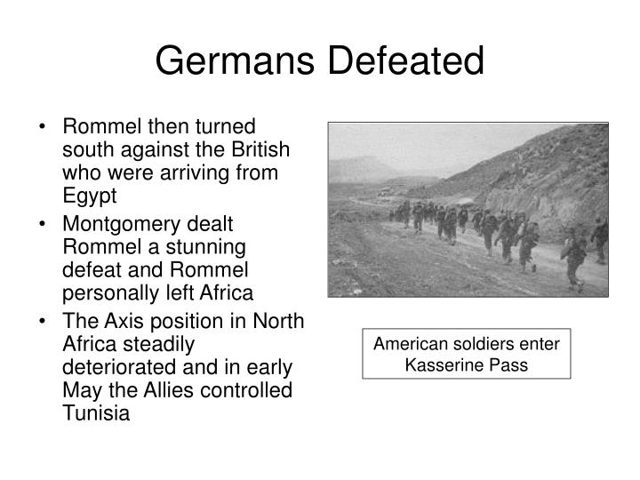 Germans Defeated