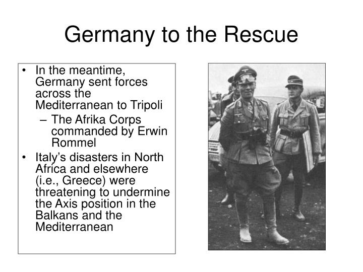 Germany to the Rescue