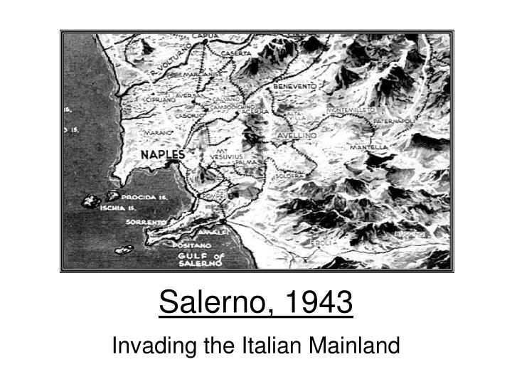 Salerno, 1943