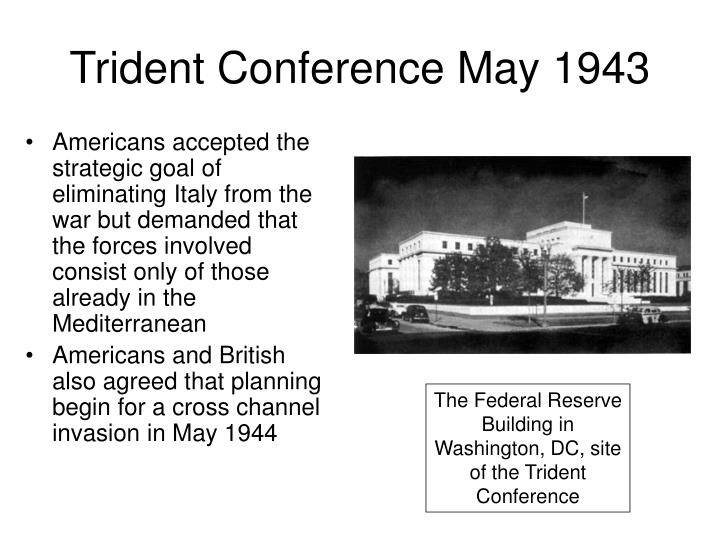 Trident Conference May 1943