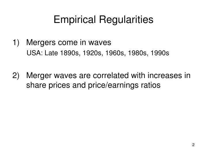 Empirical Regularities