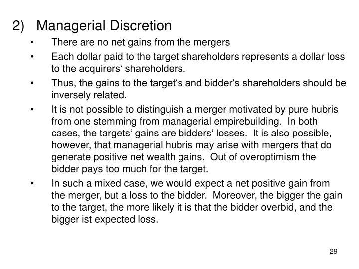 Managerial Discretion