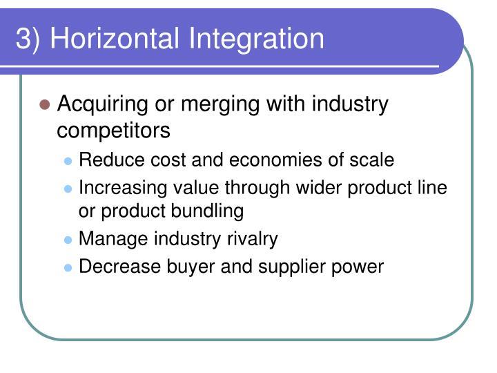3) Horizontal Integration