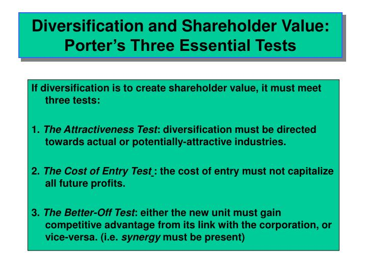 Diversification strategy and competitive advantage