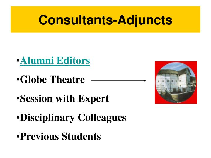 Consultants-Adjuncts