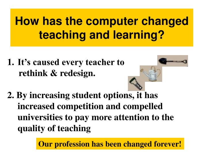 How has the computer changed teaching and learning