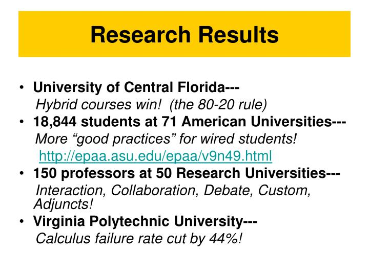 Research Results
