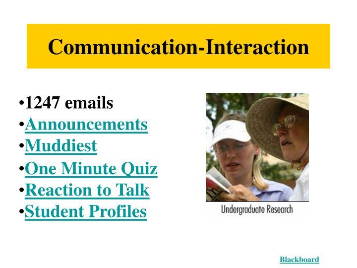 Communication-Interaction
