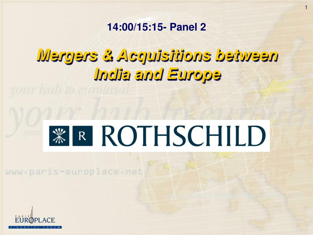 Mergers & Acquisitions between India and Europe
