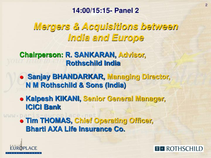 Mergers acquisitions between india and europe2