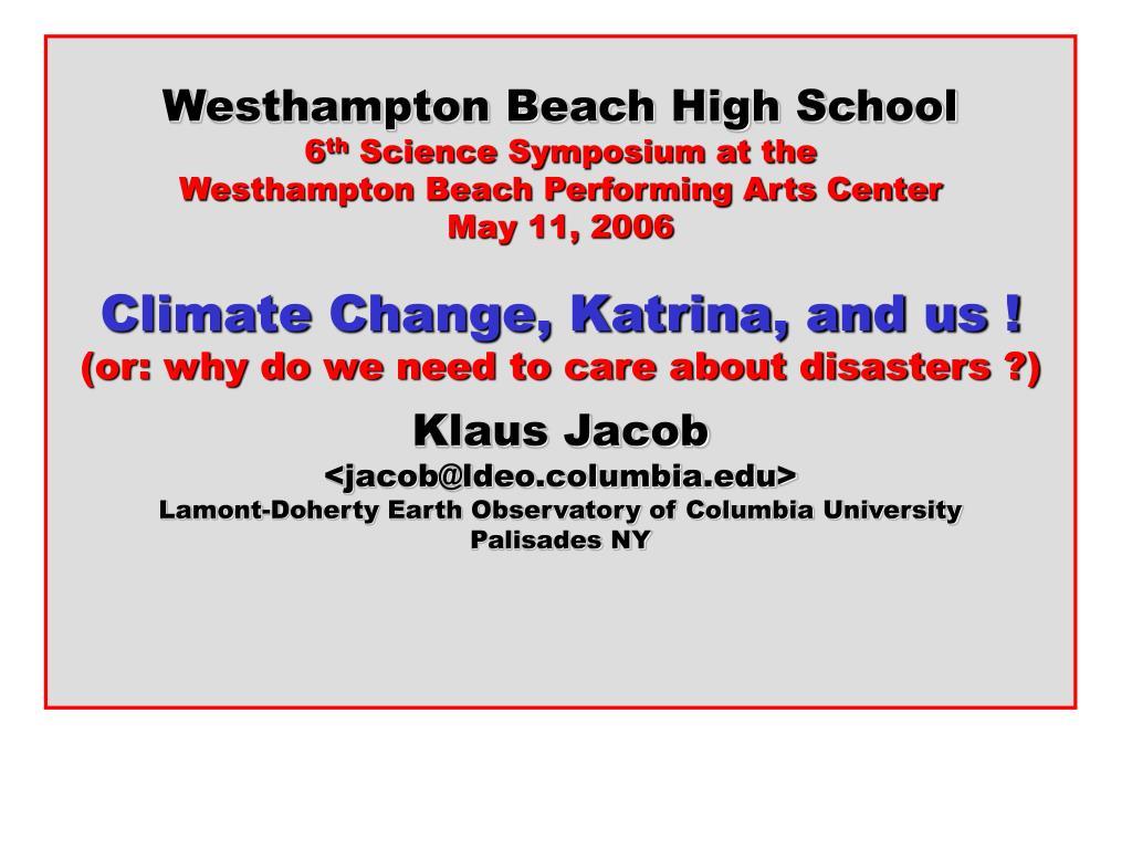 Westhampton Beach High School