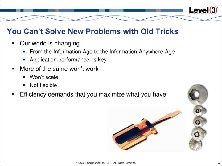 You Can't Solve New Problems with Old Tricks