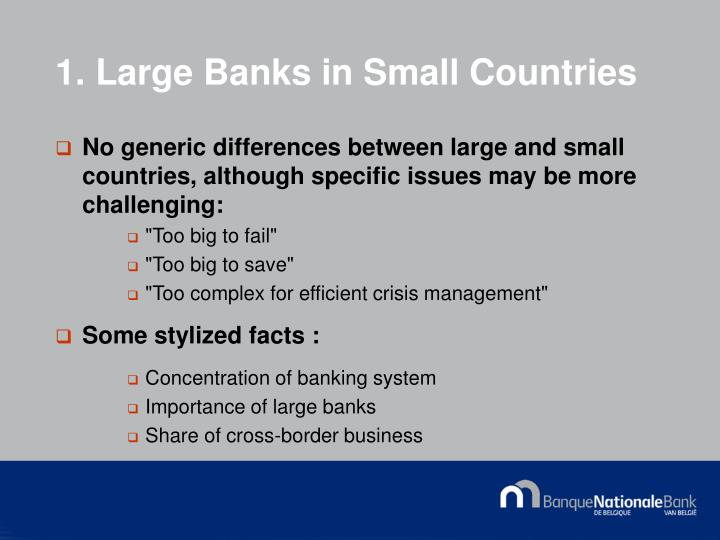 1 large banks in small countries