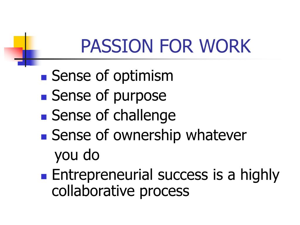 PASSION FOR WORK