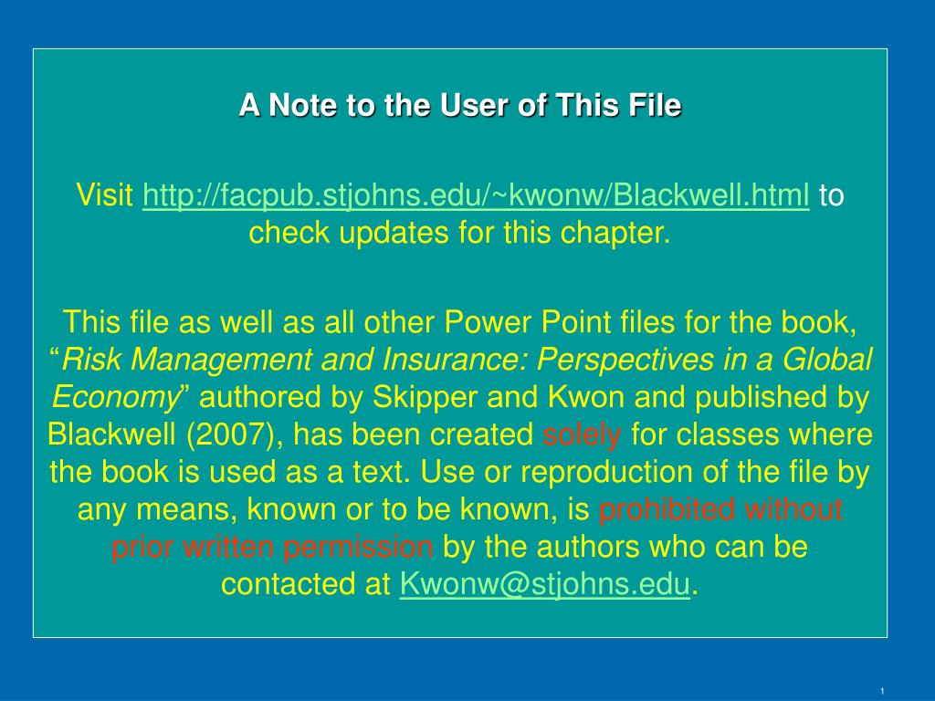 A Note to the User of This File