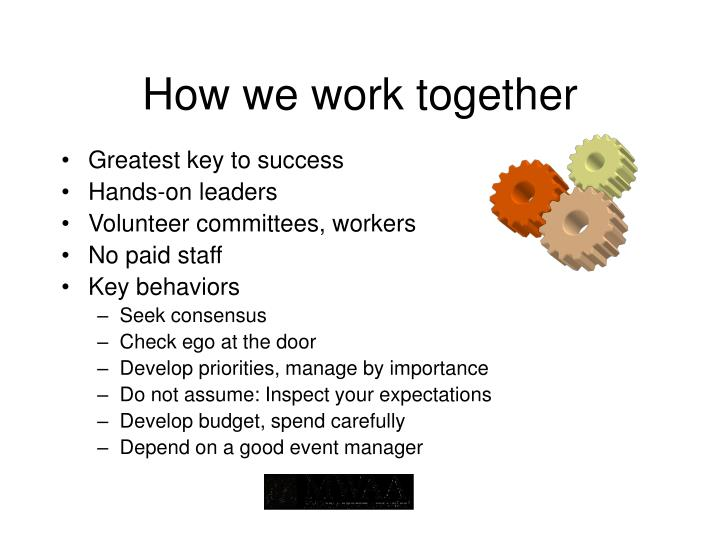 How we work together