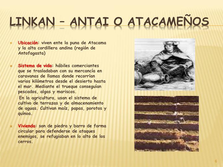 Linkan – antai o Atacameños