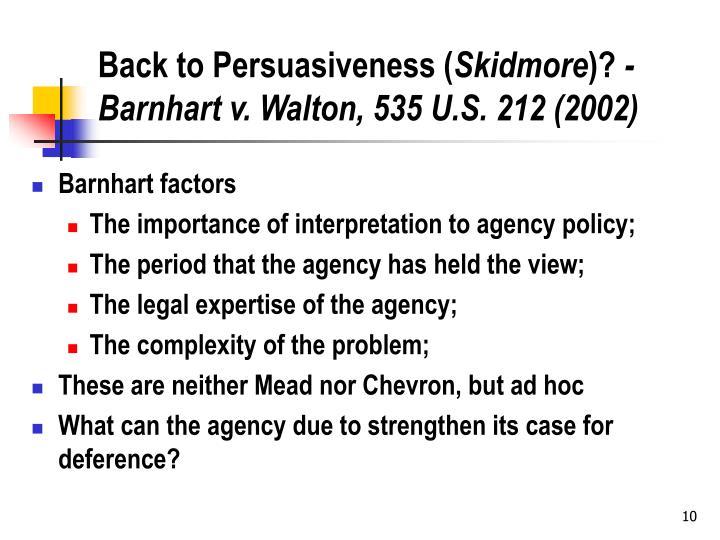 Back to Persuasiveness (