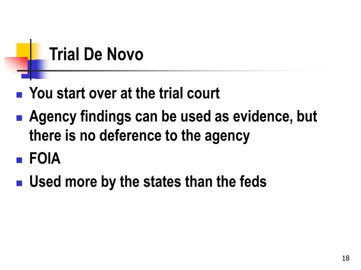 Trial De Novo