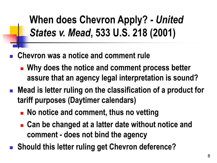 When does Chevron Apply?
