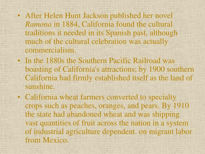 After Helen Hunt Jackson published her novel