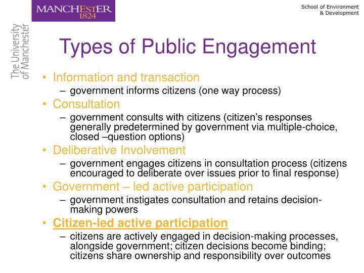 Types of Public Engagement