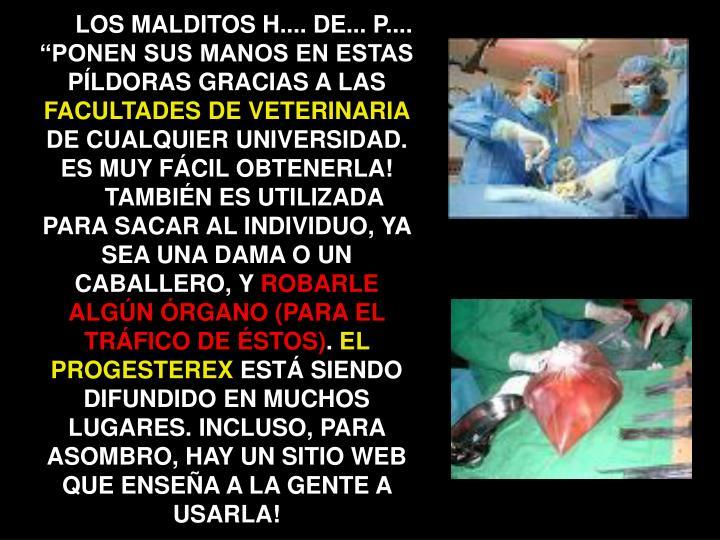 """LOS MALDITOS H.... DE... P.... """"PONEN SUS MANOS EN ESTAS PÍLDORAS GRACIAS A LAS"""