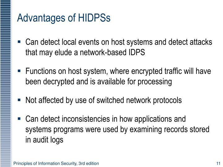 Advantages of HIDPSs