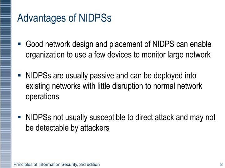 Advantages of NIDPSs