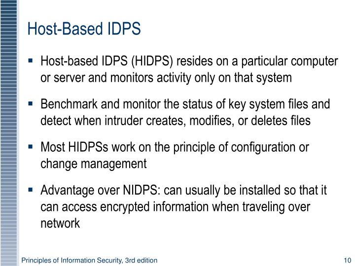 Host-Based IDPS