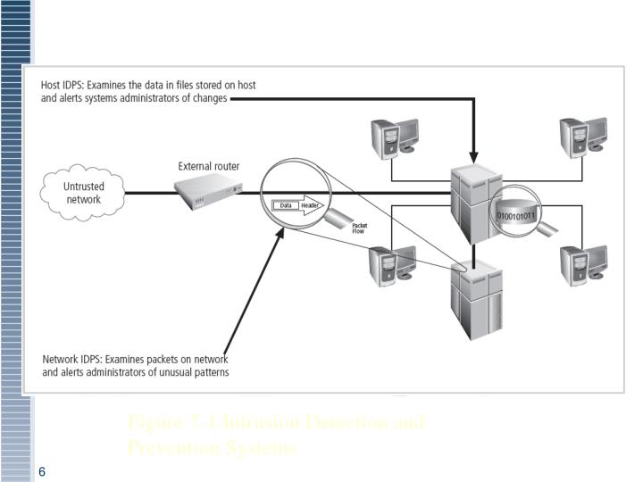 Figure 7-1 Intrusion Detection and Prevention Systems