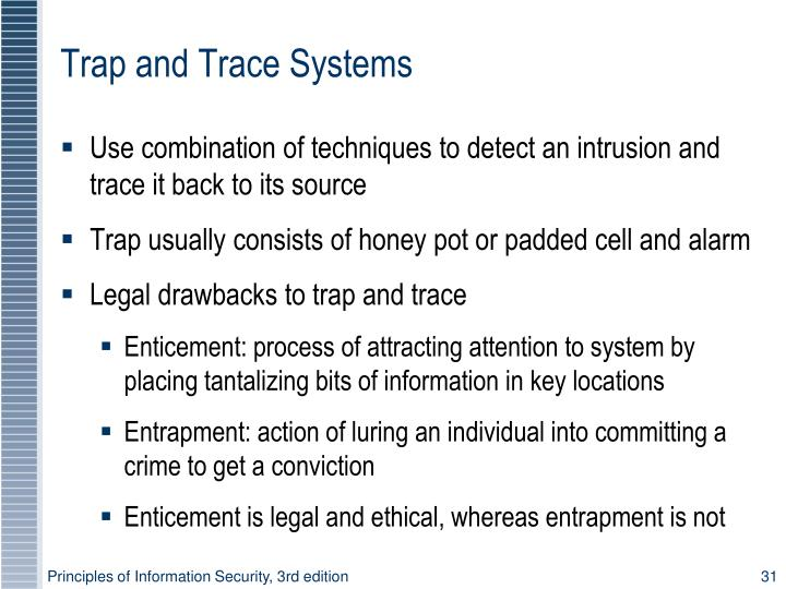 Trap and Trace Systems