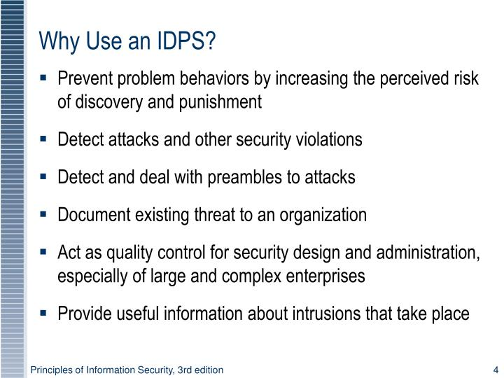 Why Use an IDPS?