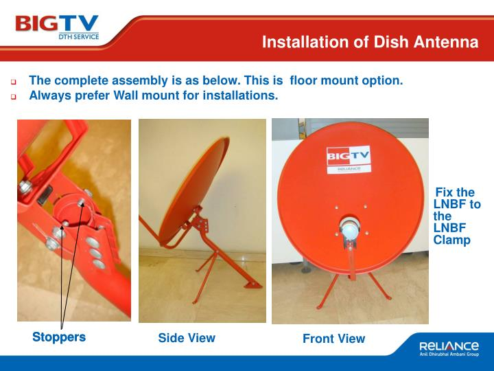 Installation of Dish Antenna